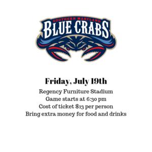 Blue Crabs Baseball Game @ Regency Furniture Stadium